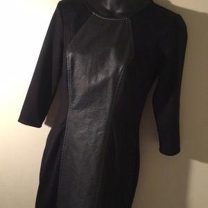 New York&Company Stretch Slim Fit Black Dress XS
